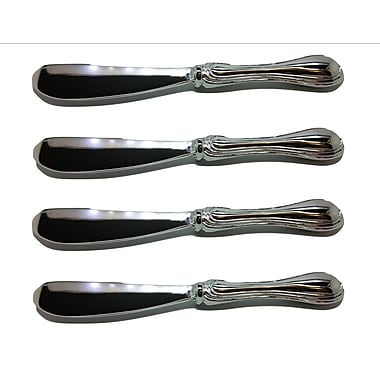 Elegance Silver-Plate Rim Pate Knifes Set