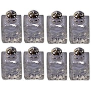 Elegance Silver Plated and Pressed Glass Mini Salt & Pepper Shakers, Set of 8