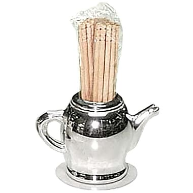 Elegance Silver-Plated Teapot Toothpick Holder
