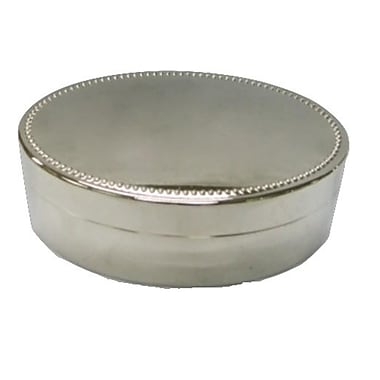 Elegance Nickel Plated Oval Jewelry Box, 4.5