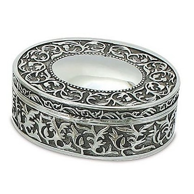 Elegance Nickel Plated Oval Jewelry Box, 5