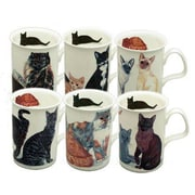 Roy Kirkham Lancaster Mug, Cats Galore, Set of 6