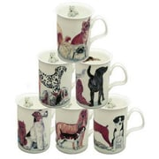 Roy Kirkham Lancaster Mug, Dogs Galore, Set of 6
