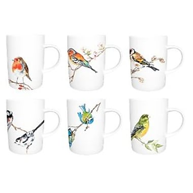 Roy Kirkham Lyric Mug, Birds, Set of 6