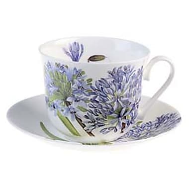 Roy Kirkham Breakfast Cup/Saucer, Agapanthus, Set of 2
