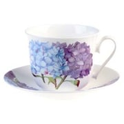 Roy Kirkham Breakfast Cup/Saucer, Hydrangea, Set of 2