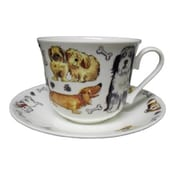Roy Kirkham Breakfast Cup/Saucer, Dog Tales, Set of 2
