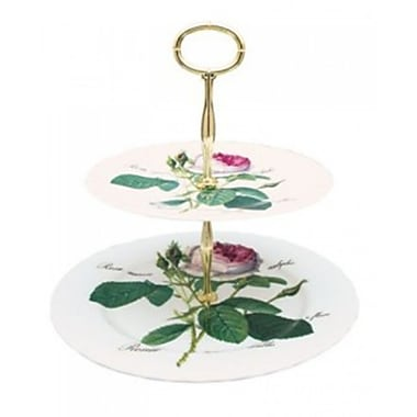 Roy Kirkham 2 Tier Cake Stand, Redoute Rose