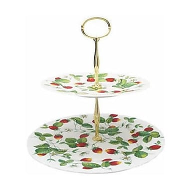 Roy Kirkham 2 Tier Cake Stand, Alpine Strawberry