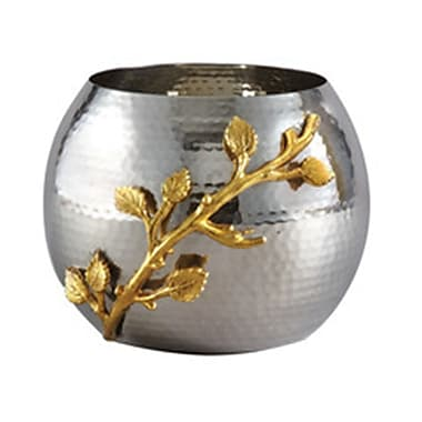 Elegance Gilt Leaf Hammered Pot