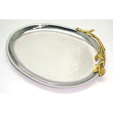 Elegance Gilt Leaf Oval Platter