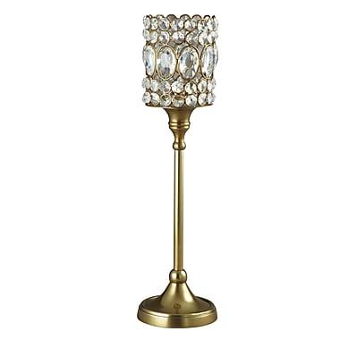 Elegance – Bougeoir étincelant pour lampions orné de cristaux, moyen
