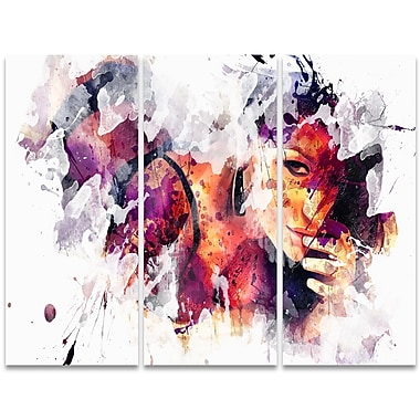Designart Eyes Only For You 3-Panel Sensual Canvas Art Print, (PT2922-36 - 28)