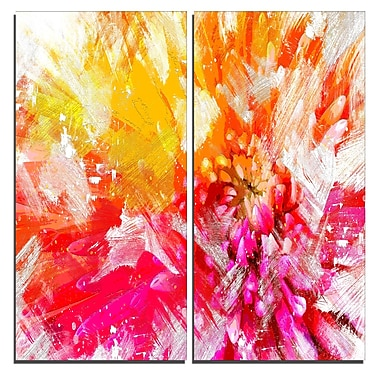 Designart Vibrant Colours Flower Art Canvas Art Print, 40