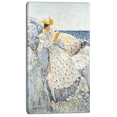 Designart Childe Hassam, Summer Sunlight Canvas Art Print, 3 Panels, (PT4224-20-40)