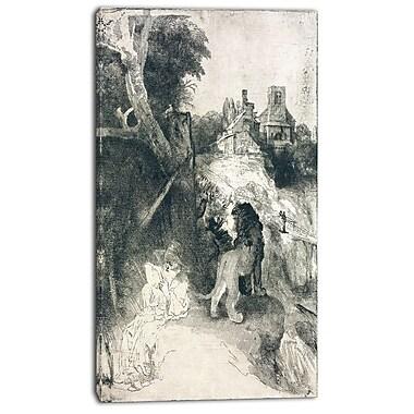 Designart – Toile imprimée de Rembrandt Harmensz « Saint-Jérôme »