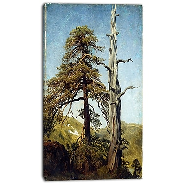 Designart August Cappelen, Study of Trees Canvas Art Print, 3 Panels, (PT4161-16-32)