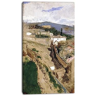 Designart – Maria Fortuny, paysage de Grenade, 3 panneaux, imprimé sur toile (PT4715-20-40)