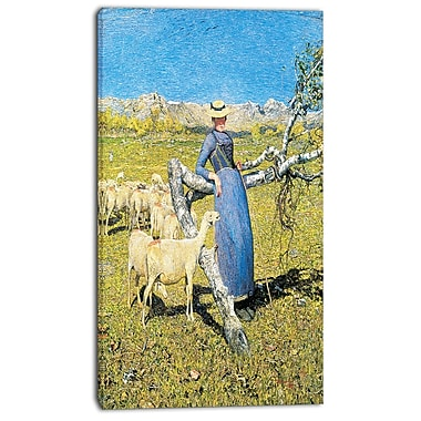 Designart Giovanni Segantini, High Noon in the Alps Canvas Art Print, 3 Panels, (PT4449-20-40)