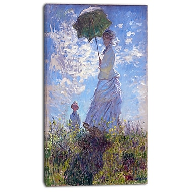 Designart Claude Monet, Madame Monet and Her Son Canvas Art Print, 3 Panels, (PT4257-20-40)