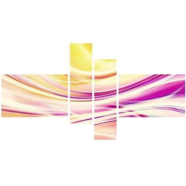 Designart Candy Stripes Canvas Print Set, (PT3004-279)
