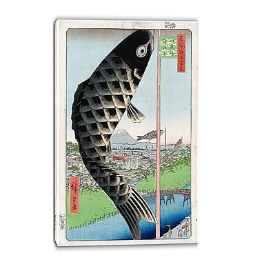 Design Art – Utagawa Hiroshige, Suido Bridge, grande toile asiatique