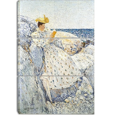 Designart Childe Hassam, Summer Sunlight Canvas Art Print, 3 Panels, (PT4224-3P)