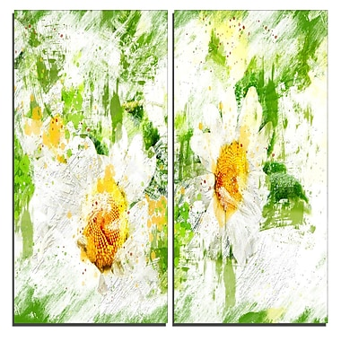 Designart Pair of White Flowers Canvas Art Print, 40