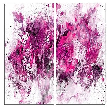 Designart Pink Purple Flowers Canvas Art Print, 40