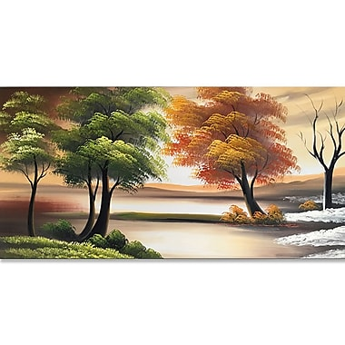 Designart Changing Seasons on the Lake Canvas Art Print, 40