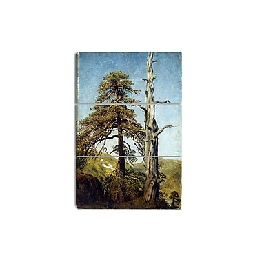 Designart August Cappelen, Study of Trees Canvas Art Print, 3 Panels, (PT4161-3P)