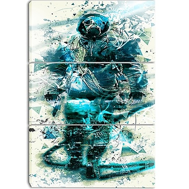 Designart Hazardous March Street Art Canvas Artwork, (PT3614-3P)