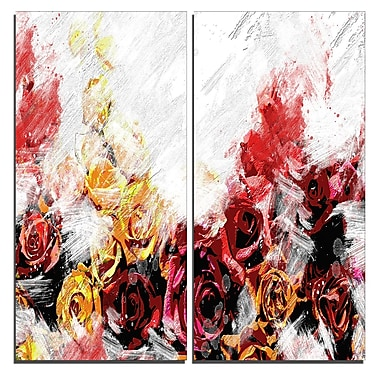 Designart Mixed Roses Canvas Art Print, 40