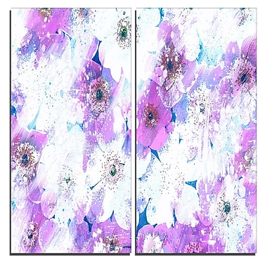 Designart Lavender Flower Bed Canvas Art Print, 40