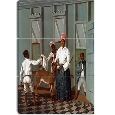 Designart Agostino Brunias, Servants Washing a Deer Canvas Art Print, (PT4112-3P)
