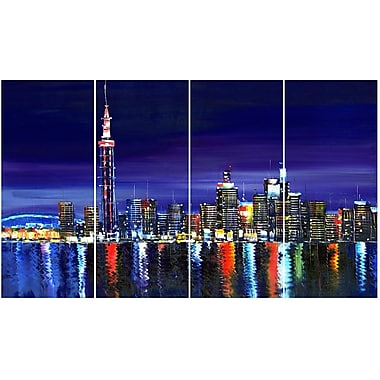 Design Art Toronto At Night- Art on Canvas, (PT2017-271)