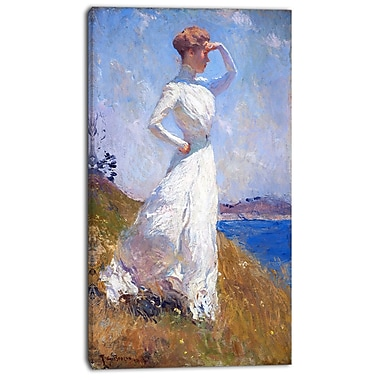 Designart Frank Weston Benson, Sunlight Canvas Art Print, 3 Panels, (PT4172-16-32)