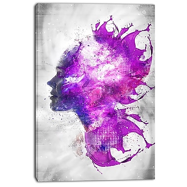 Designart Explosive Portrait Street Art Canvas Artwork, (PT3603-24-40)