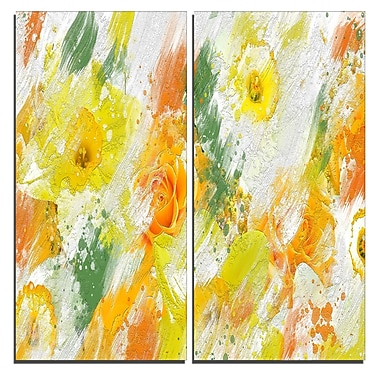 Designart Abstract Daisies Canvas Art Print, 40