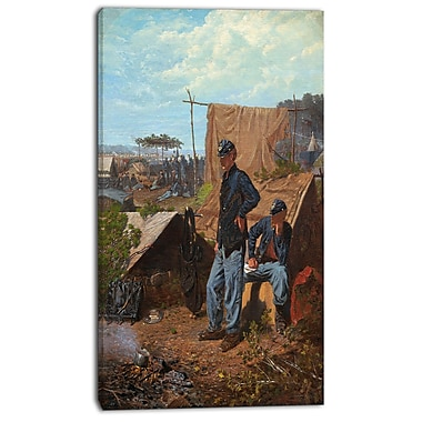 Designart Winslow Homer, Home, Sweet Home Canvas Art Print, 3 Panels, (PT5022-20-40)