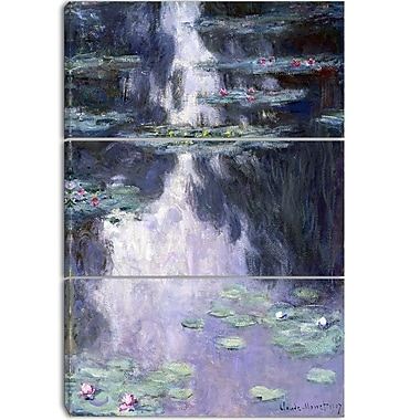 Designart – Imprimé sur toile, Nymphéas de Claude Monet, 3 panneaux (PT4233-3P)