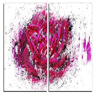 Designart Pink Rose Canvas Art Print, 40
