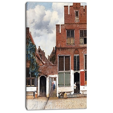 Designart Johannes Vermeer, View of Houses in Delft Canvas Art Print, 3 Panels, (PT4629-20-40)