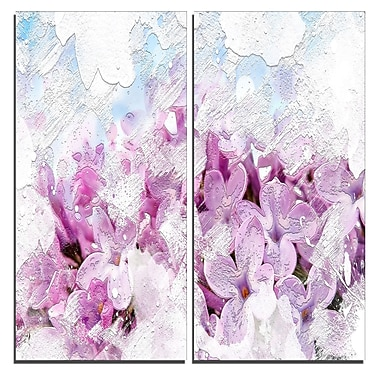 Designart Flower Garden Canvas Art Print, 40