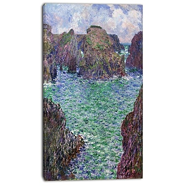 Designart Claude Monet, Port Goulphar Belle-lle Canvas Art Print, 3 Panels, (PT4235-20-40)