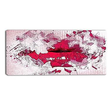 Designart – Art sensuel imprimé sur toile, lèvres rouges faisant la moue (PT2940-32-16)