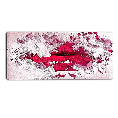 Designart Pucker Up Red Lips Sensual Canvas Art, (PT2940-32-16)