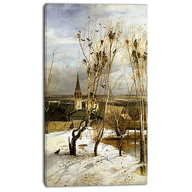 Designart Alexei Savrasov, Rooks Have Returned Canvas Art Print, 3 Panels, (PT4121-16-32)