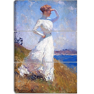 Designart Frank Weston Benson, Sunlight Canvas Art Print, 3 Panels, (PT4172-3P)