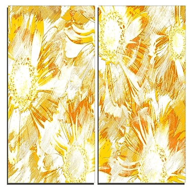 Designart Yellow Flowers Canvas Art Print, 40